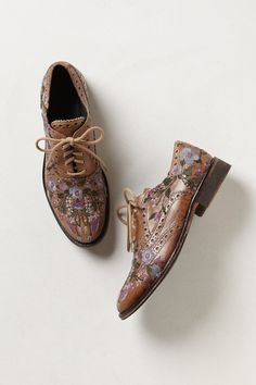 Molina Embroidered Oxfords - Anthropologie.com