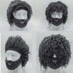 Beard Beanie, Beanie Hats, Knitted Beard, Knitted Hats, Crochet Beard Hat, Fashion Kids, Crochet Mustache, Funny Wigs, Cosplay For Sale