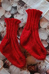 Free Knitting Pattern - Children's Socks & Booties: Toddler Toe-up Ribbed Socks