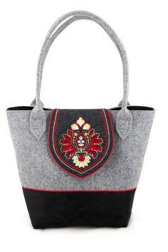 Eine große Tasche mit Klappe Red DUO von INCAT auf DaWanda.com