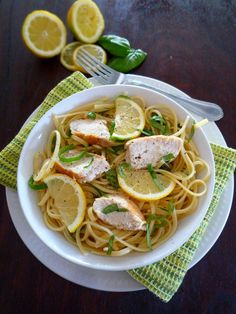 Simple Lemon Basil Pasta with Chicken by The McCallum's Shamrock Patch - This recipe is easy and healthy, and the citrus flavor is incredible!