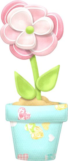 Nice Flowers and Hearts of the Sweet Spring Clip Art. This images will help you for making decorations, invitations, toppers, car. Cartoon Flowers, Cute Clipart, Flowers Perennials, Baby Kind, Amazing Flowers, Painted Rocks, Flower Art, Banners, Decoupage