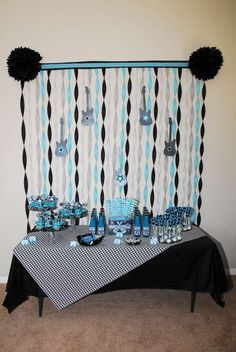 Rock Star Baby Shower Party Ideas | Photo 11 of 20 | Catch My Party