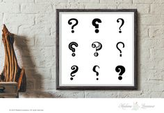 Printable Art Question Mark Typographic art print by TheParisWife