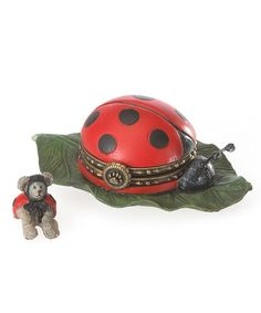 Look what I found on #zulily! Lady Bug Treasure Box & Mouse Figurine #zulilyfinds
