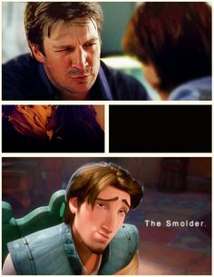 the smolder ;) funny i was just talking to my sister about how castle does the smolder. hahahahah