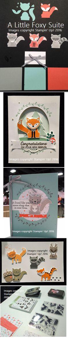 Stampin' Up! Foxy Friends, RubberFUNatics: A Little Foxy Suite