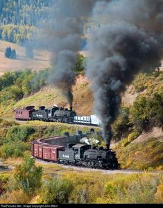Net Photo: DRGW Cumbres & Toltec Scenic Railroad Steam at Chama, New Mexico by John West Source by fabianannette Train Tracks, Train Rides, Old Steam Train, Bonde, Railroad Photography, Train Pictures, Old Trains, Train Engines, Train Layouts