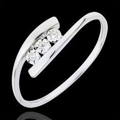 Anello Nido Prezioso - Trillusion - Oro bianco - 18 carati - Diamanti