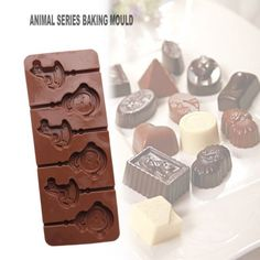Animals Styling Silicone Mold Chocolate Lollipop Decorating DIY Baking Tool #diydecorating