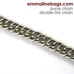Purse Chain: **DOUBLE-LINK** Chain in Nickel (2 Lengths)