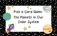 Pick a Card Games are a fun way to practice and reinforce skills! All you need is the activity sheet and a deck of cards. The game is self-checking, so student groups can work independently. It contains questions about the planets in our solar system.