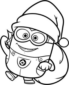 Minion Coloring Pages Party Favors Pinterest Woodworking plans