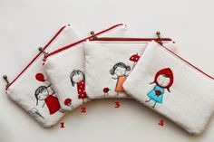 little girls Free Motion Embroidery Zipper Pouch, lazydolls newest design with sunshine and smile! xx Size: Maximum width: / Height : / It will be shipped worldwide using Royal Mail Airmail from the UK. Feel free to contact me if you have any questions. Embroidery Bags, Free Motion Embroidery, Hand Embroidery Patterns, Vintage Embroidery, Machine Embroidery, Embroidery Designs, Embroidery Thread, Pouch Bag, Zipper Pouch