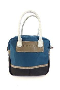 LIEBESKIND SCHULTER TASCHE BAG blau braun - WIE NEU! mit STAUBBEUTEL! /AZ807