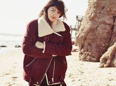 Cozy oxblood Jacket with Alyssa Miller