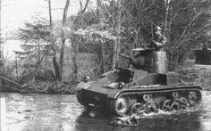 Belgian T15 Light tank manoeuvers 1940