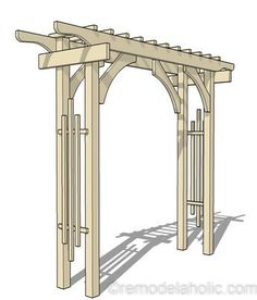 The pergola kits are the easiest and quickest way to build a garden pergola. There are lots of do it yourself pergola kits available to you so that anyone could easily put them together to construct a new structure at their backyard. Diy Pergola, Building A Pergola, Pergola Swing, Outdoor Pergola, Cheap Pergola, Wooden Pergola, Pergola Shade, Pergola Kits, Pergola Ideas