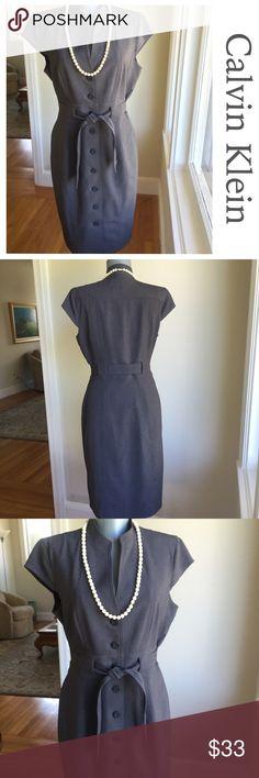 "Calvin Klein Gray Dress.  Chic. Calvin Klein Gray Dress.  Chic. Bust 39"". Waist 30"". Hips 40"". Waist to hem 24"". Very good condition.  Beautiful. Calvin Klein Dresses"