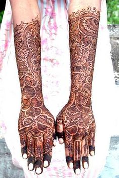 HENNA DESIGNS: Arabic Bridal Henna Designs Photos and Videos 203