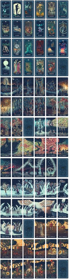 All 79 cards of the Prisma Visions Tarot