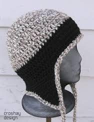 Crochet Beanie Design free crochet hat pattern with ear flaps for men Crochet Adult Hat, Mode Crochet, Crochet Beanie, Knit Or Crochet, Crochet Crafts, Knitted Hats, Crotchet, Crochet Hat For Men, Ravelry Crochet