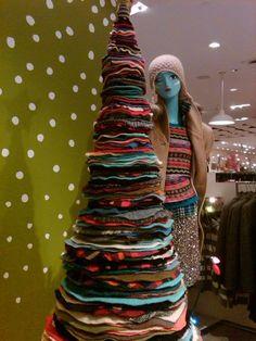 Felted Wool Circle Christmas tree (Holt Renfrew, Toronto)