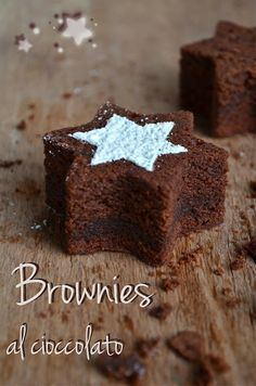 Die Bonbons in den Sinn: Schokoladen-Brownies . Chocolate Brownies, Chocolate Recipes, Cake & Co, Dessert Decoration, Something Sweet, Christmas Desserts, Cakes And More, Cake Cookies, Love Food