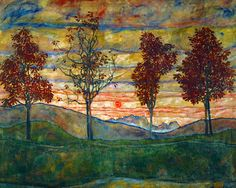 Four Trees, c.1917 Art Print at AllPosters.com