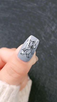 Edgy Nails, Grunge Nails, Funky Nails, Swag Nails, Cute Nails, Pretty Nails, Edgy Nail Art, Cute Nail Art, Disney Acrylic Nails