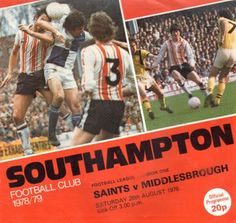 Southampton vs Middlesbrough 1978