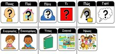 Picture Speech And Language, Greek, Classroom, Teaching, Comics, School, Kids, Pictures, Class Room