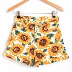 Hot Moda Mulheres Cintura Alta Floral Impressão Denim Jeans Shorts Casual Praia Shorts De Slim