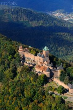 France, Bas Rhin, Orschwiller, Alsace Wine route, Haut Koenigsbourg Castle #alsace #france