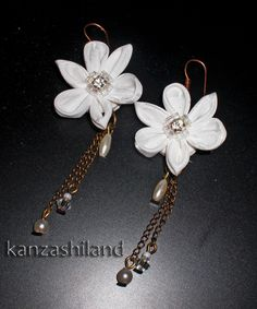 kanzashi earrings  kanzashiland