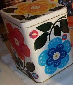 :) Lunch Box, Retro, Mid Century