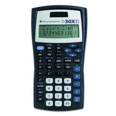 Texas Instruments IIS Scientific Calculator Black with Blue Accents Products Supplies Systems Products Supplies Accessories-Workspace Organizers Stands-Shelves Drawers-Platforms Products Supplies Chemistry Class, Square Roots, Slide Rule, Calculus, Blue Accents, Calculator, Instruments, Texas, Blue Office
