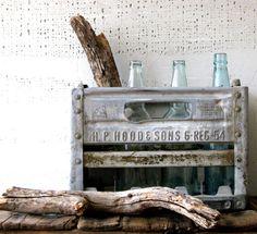 metal milk crate   industrial urban farmhouse decor by tribute212