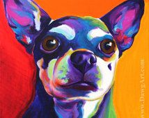colorful Chihuahua dog paintings - Google Search
