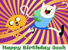 Adventure Time Edible Cake Image Topper Decoration CUSTOM Birthday Favor
