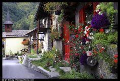 Quaint villages | Quaint village of Le Tour, Chamonix Valley, Alps, France. (color)