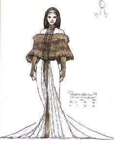 Star Wars Padme Amidala Dinner Dress - Original Concept Art