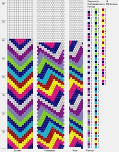 14 around tubular bead crochet rope pattern Crochet Bracelet Pattern, Loom Crochet, Bead Crochet Patterns, Beading Patterns Free, Bead Crochet Rope, Crochet Beaded Bracelets, B 13, Beading Techniques, Tapestry Crochet