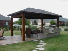 Covered Outdoor Kitchens | Outdoor Kitchen Photos | Outdoor Kitchen Building and Design
