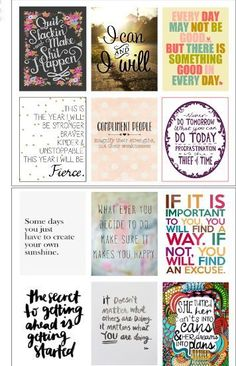 Motivational Quote Stickers (12) - Erin Condren Life Planner - Fits MDN Box