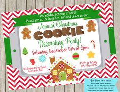Christmas cookie decorating party by FunFiestaPartyDesign on Etsy