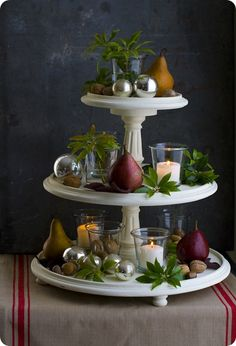 Tiered Stand - Think I can make this with plates and candle sticks?