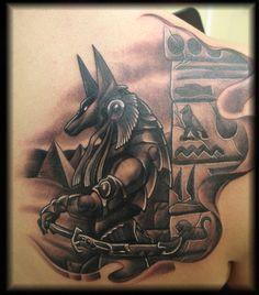 Anubis Tatuagem Tattoo Egyptian Head Black