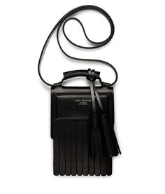 Acne Studios // tassle // black leather // cross body bag // crossbody