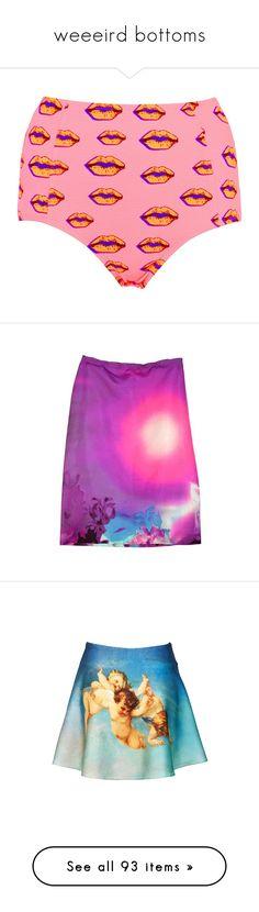 """weeeird bottoms"" by lavender-milk ❤ liked on Polyvore featuring swimwear, bikinis, bikini bottoms, swimsuits, shorts, bathing suits, sale, highwaisted bikini bottoms, high-waisted bikinis and pink high waisted bikini"